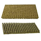 Grodan A-OK 1''x1'' Sheet of 200 Rockwool / Stonewool Starter Cubes for Cuttings, Cloning, Plant Propagation, and Seed Starting