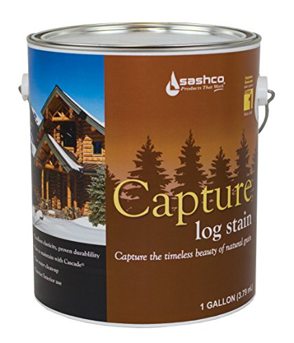 Sashco Cap-P-CH Chestnut Cap-P Capture Log Stain, 1 gal Can ()