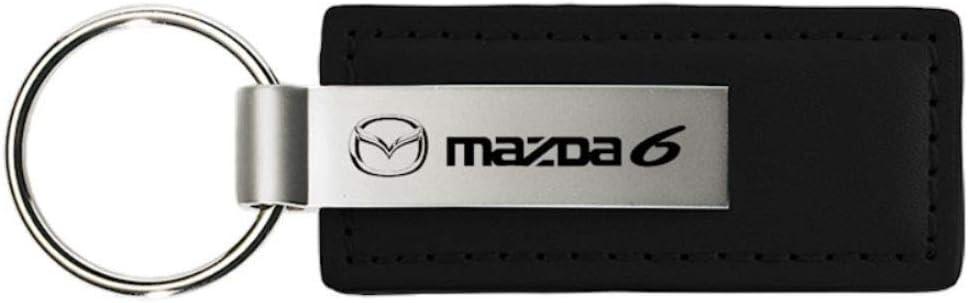 Mazda6 Mazda 6 Black Leather Key Fob Authentic Logo Key Chain Key Ring Keychain Lanyard