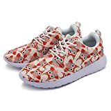 cozyshoeson Love Cute owl Forest Animal Women Running Shoes Sneakers (7.5 B(M) US)