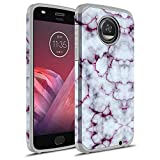 Moto Z2 Play Case, Moto Z Play (2nd Gen.) Case, GORGCASE FASHION SLIM Shockproof Hard Hybird Slim Defender Armor Protector Cover for Moto Z2 Play (Purple Marble)