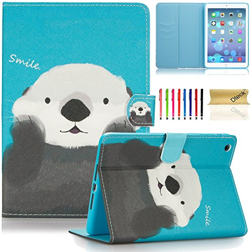 iPad Mini Case, iPad Mini 2&3 Case, Dteck Slim Fit [Stylus Holder] Flip Folio Stand Leather Case with Auto Sleep/Wake Feature Wallet Cover for Apple iPad Mini 1/2/3 (Cute Bear)