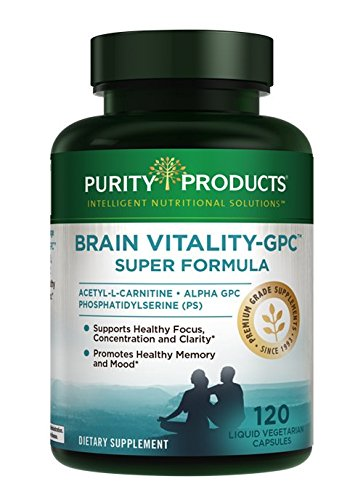Brain Vitality-GPC (Acetyl L-Carnitine) Super Formula by Purity Products | Alpha GPC | 120 Capsules (Purity Products 120 Capsules)