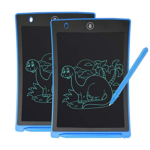 GUYUCOM Writing Board, 8.5inch LCD Writing Tablet Doodle Board Message Board with Lock Button for Kids Adults (blue-2pcs)