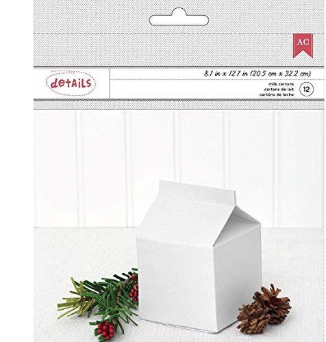 American Crafts Milk Carton, Pack of