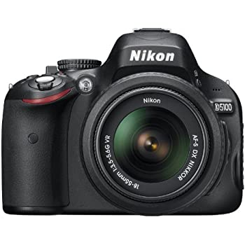 Nikon D5100 DSLR Camera with 18-55mm f/3.5-5.6 Auto Focus-S Nikkor Zoom Lens (OLD MODEL)