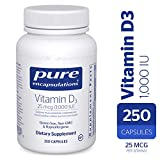 Pure Encapsulations - Vitamin D3 1,000 IU - Hypoallergenic Support for Bone, Breast, Prostate, Cardiovascular, Colon and Immune Health* - 250 Capsules