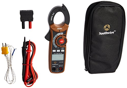 Southwire Tools & Equipment 21010N 400A Digital Clamp Meter, Multimeter with Voltage, AC Current, Resistance, and Capacitance Tests