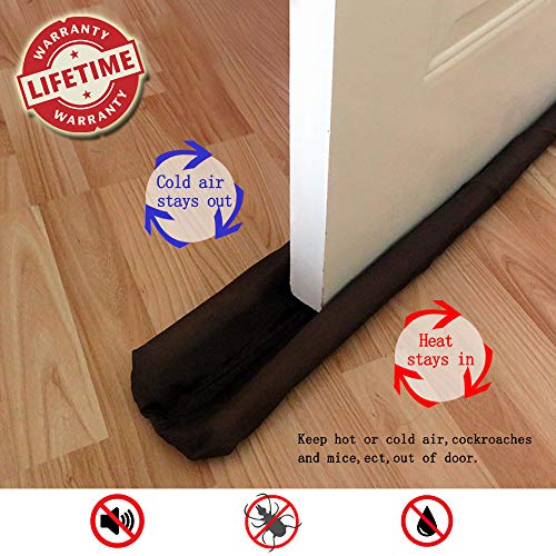 RUIYANG Under Door Draft Stoppers for Exterior/Interior Doors Soundproof Door Bottom Weather Stripping Double Sided-No Cold-Foam/Vinyl