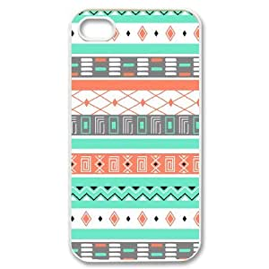 Unique Designs AXL377830 New Cover Case For Iphone 4,4S Phone Case w/ Aztec Pattern
