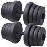 Yaheetech 66 LB Weight Dumbbell Set Adjustable Cap Gym/home Barbell Plates Body Workout