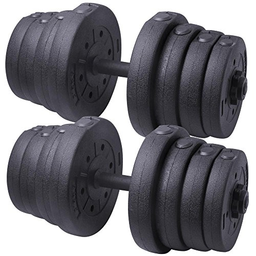 Yaheetech 66 LB Weight Dumbbell Set Adjustable Cap Gym/home Barbell Plates Body Workout by Yaheetech