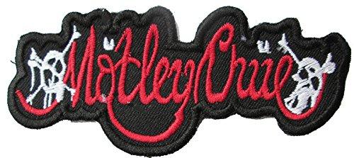 ロゴ刺繍入りSew Onパッチバッジレッドブラック B072J3C1NQ