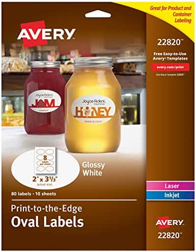 Avery Oval Labels for Laser & Inkjet Printers, 2