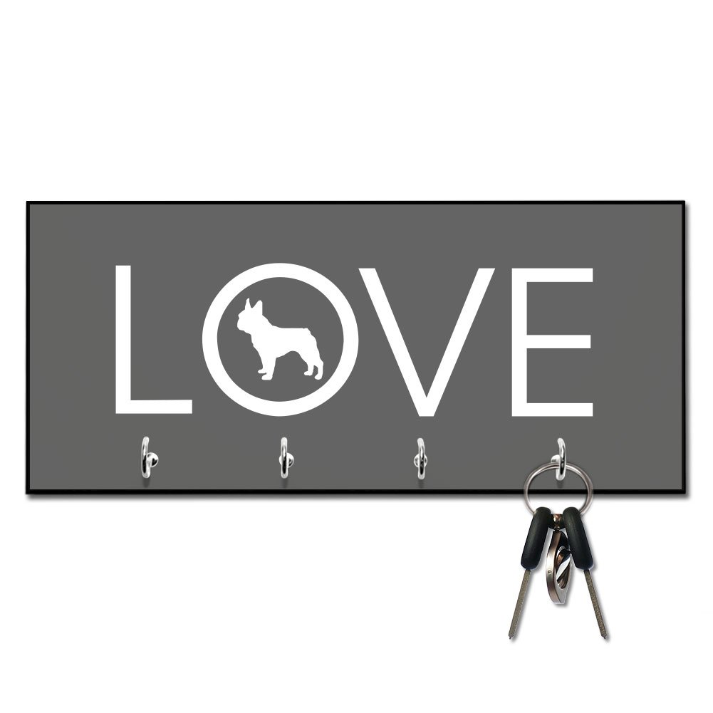 Love French Bulldog Key and Leash Hanger
