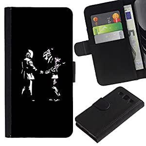 KingStore / Leather Etui en cuir / Samsung Galaxy S3 III I9300 / Los individuos frescos Daft