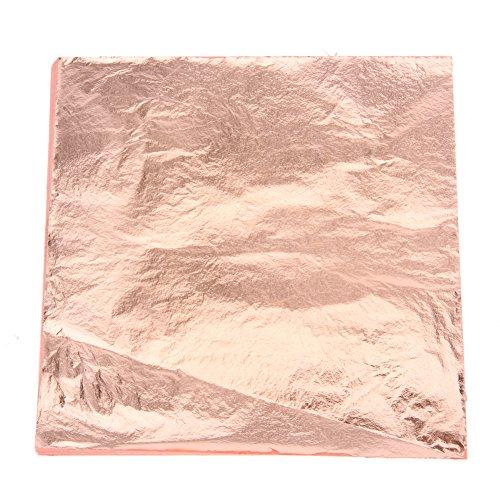 (WinnerEco 100pcs Gold Sliver and Copper Leaf Leaves Sheets Foil for Gilding Decor (Copper))