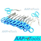 AAPROTOOLS 12 PCS PARAMEDIC UTILITY BANDAGE FIRST AID STAINLESS STEEL TRAUMA EMT EMS SHEARS SCISSORS 7.25'' TEAL A+ QUALITY