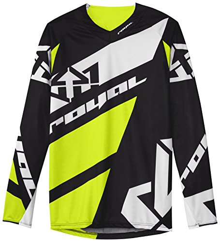 Royal Racing Long Sleeve Victory Race Jersey, Black/Yellow/White, - Jersey Royal Racing Race