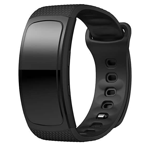 Cewaal Replacement Bands for Gear Fit2 SM-R360, Skin Friendly Silicone 145-195mm Strap Wristband for Samsung Smartwatch Small Size