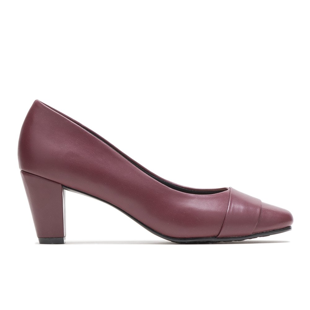 Soft Style by Hush Puppies Women's Mabry Pump, Bordeaux Kid, 6 M US by Soft Style