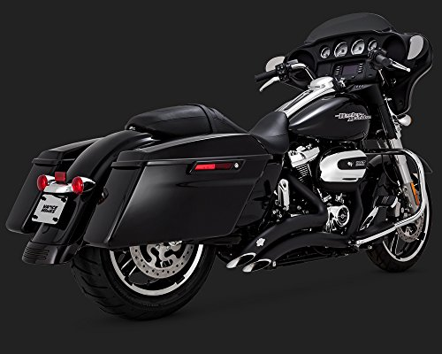 17-19 HARLEY FLHX2: Vance & Hines Big Radius 2-Into-2 Exhaust (Black)