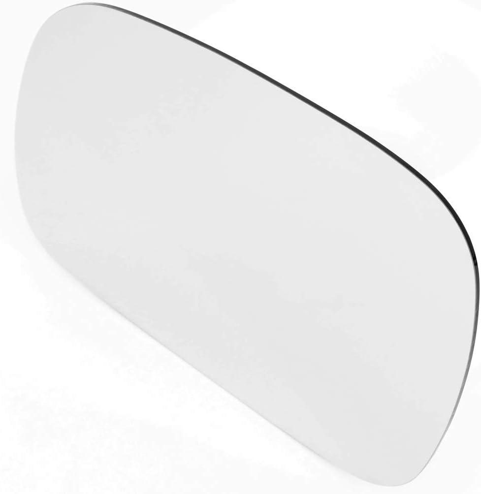 Driver//Left Side Door Rear View Mirror Glass Lens Replacement for 1996-2007 Chrysler Voyager//Dodge Grand Caravan
