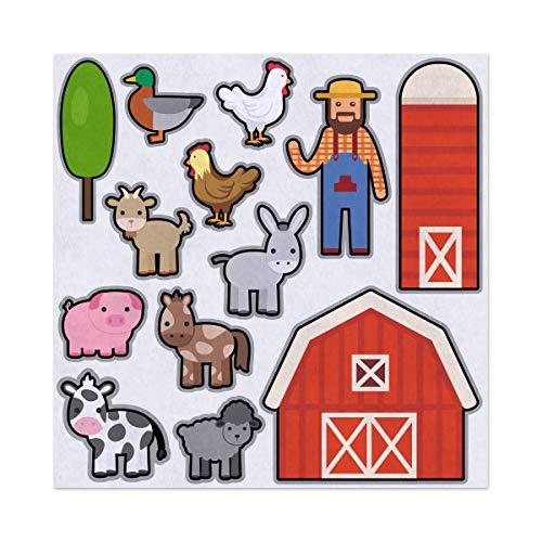 (Old McDonald Had a Farm Nursery Rhyme Felt Play Art Set Flannel Board Story Storyboard Pieces)