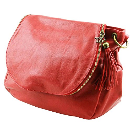 Women's Shoulder LEATHER TUSCANY red One TL141110 Size Bag Red Ov6OWqwU