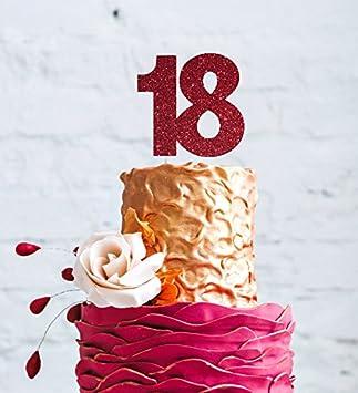 Geburtstagskuchen Topper Zum 18 Geburtstag Gross Zahl 18