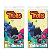 Trolls Party Table cover 84'' X 54'', 2 Pack