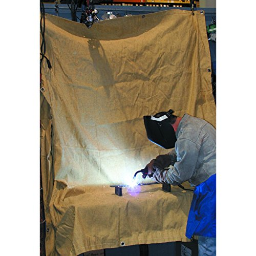 Welding Blanket: Fiberglass, Extra Large, 8 FT by 8 FT, Welding Work Area Protection (Trim Workspace)