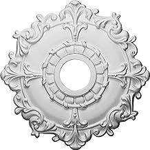 Ekena Millwork CM18RL 18-Inch OD x 3 1/2-Inch ID x 1 1/2-Inch Riley Ceiling Medallion