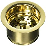 Jaclo 2829-PG Extra Deep Disposal Flange with Strainer, Polished Gold