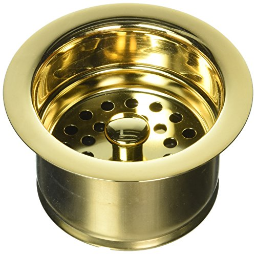 Jaclo 2829-PG Extra Deep Disposal Flange with Strainer, Polished Gold by Jaclo