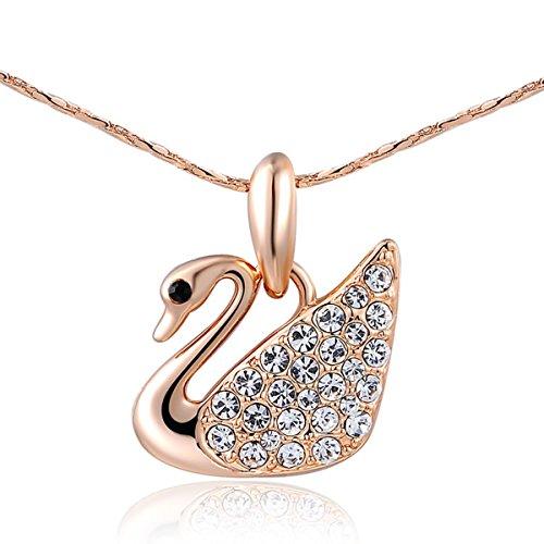 Around The World Costume Ideas Male (AROUND 101 Swan Swarovski Elements AAA Zircon Austrian Crystal Pendant Necklace (Gold))