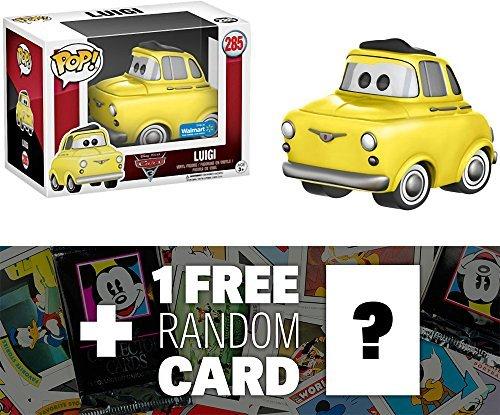 Funko Luigi (Walmart Exclusive) POP! Disney x Cars 3 Vinyl Figure + 1 Free Classic Disney Trading Card Bundle (12912)