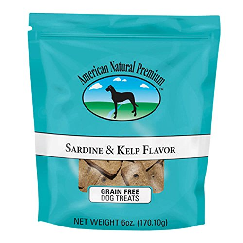 American Natural Premium 22924 Sardine & Kelp Flavor Dog Treats, 6 (Kelp Treats)