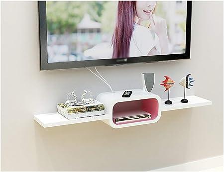 Gabinete de TV con marco de pared flotante de madera maciza Pantalla de montaje en pared