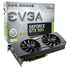 EVGA GeForce GTX 950 2GB SC+ GAMING, Silent Cooling Graphics Card 02G-P4-2956-KR