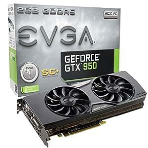 EVGA GeForce GTX 950 2GB SC+ GAMING, Silent Cooling Graphics Card 02G-P4-2956-KR