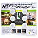 Capstone 6 LED Wireless Puck Lights with Remote Control, White
