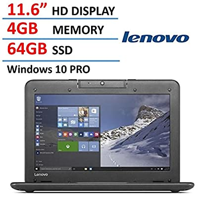 Lenovo N22 11.6-inch High Performance Laptop Notebook (2016 New Premium Edition), Intel Dual-Core Processor 2.16GHz, 4GB RAM, 64GB SSD, Rotatable Webcam, Water-Resistant Keyboard, Windows 10 Pro
