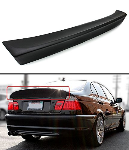 Cuztom Tuning CSL Style Rear Trunk Duckbill High Kick Spoiler Wing Fits for 1999-2005 BMW E46 3 Series 4DR Sedan ()