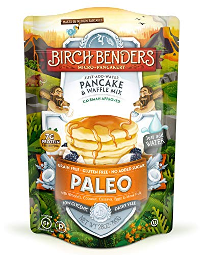 Paleo Pancake & Waffle Mix By Birch Benders Made With Cassava, Coconut & Almond Flour, 28 Oz