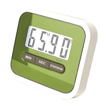 Haodou Temporizador de cocina digital Imán digital Temporizador de cocina Reloj de cuenta atrás con pantalla LCD grande y alarma fuerte (Verde): Amazon.es: ...