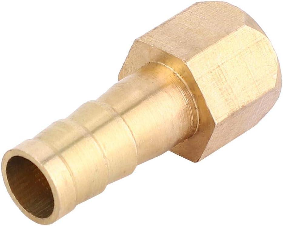 PCF8-01(1//8) 5 Unids BSP Rosca Hembra Barb Lat/ón Manguera Cola Tuber/ía Accesorios de Articulaci/ón Conjunta Conector Para Mesas Sillas DIY