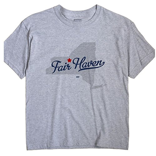 GreatCitees Fair Haven New York NY MAP Unisex Souvenir T Shirt