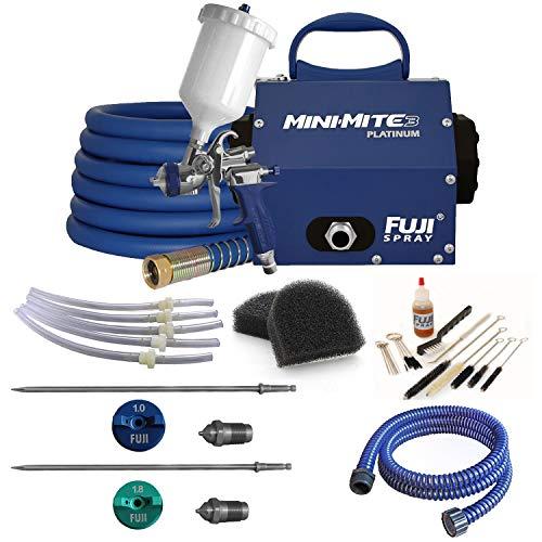 Kit Mite (Fuji T75G Mini-Mite 3 Platinum Gravity HVLP Spray System + Pro Accessory Kit)