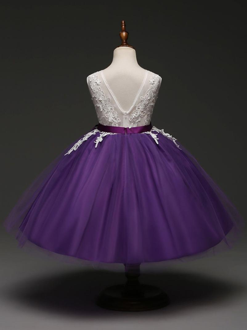 Vestido de niñas Los niños embroman el vestido sin tirantes princesa ...